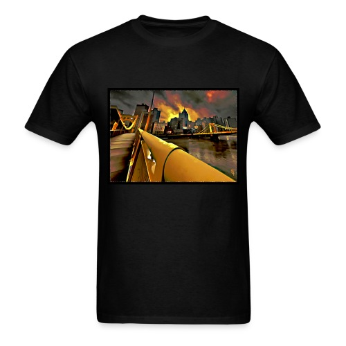 Pittsburgh Skyline - Men's T-Shirt