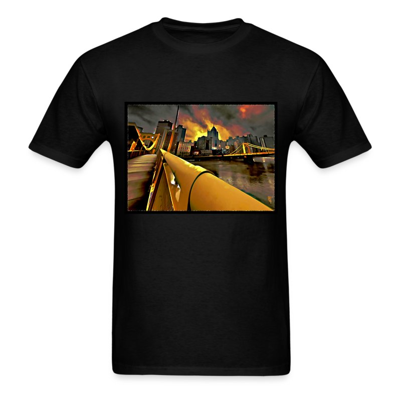 pittsburgh skyline t shirt spreadshirt