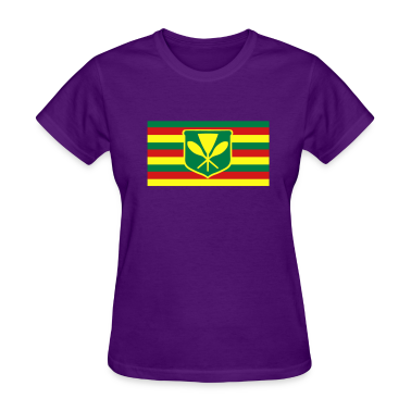 Kanaka Maoli - Native Hawaiian Flag Women's T-Shirts