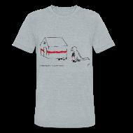 T-Shirts ~ Unisex Tri-Blend T-Shirt ~ T-Rex Painting House (Am. Apparel)