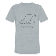 T-Shirts ~ Unisex Tri-Blend T-Shirt ~ T-Rex Trying Down Dog (Am Apparel)