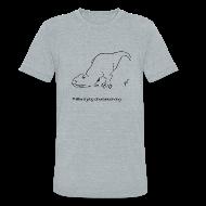 T-Shirts ~ Unisex Tri-Blend T-Shirt ~ T-Rex Trying Down Dog (Am Apparel)