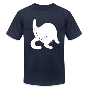 White Cat - Men's T-Shirt by American Apparel
