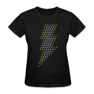 Women's T-Shirts ~ Women's T-Shirt ~ Lightning! Metallic gold & silver