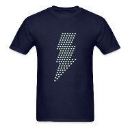 T-Shirts ~ Men's T-Shirt ~ Lightning! Glow in the dark