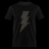 T-Shirts ~ Men's T-Shirt ~ Lightning! Metallic gold & silver