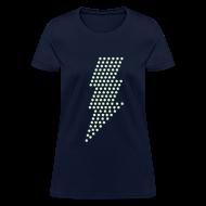 Women's T-Shirts ~ Women's T-Shirt ~ Lightning! Glow in the dark