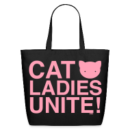 Bags & backpacks ~ Eco-Friendly Cotton Tote ~ Cat Ladies Unite!