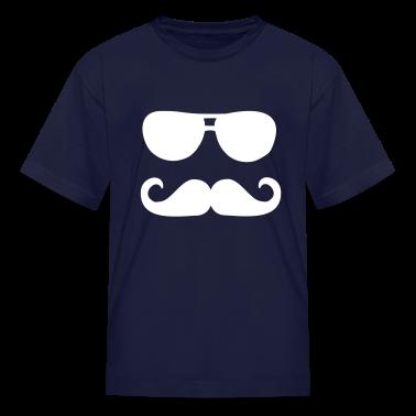 Mustache sunglasses Kids' Shirts