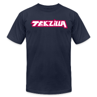 T-Shirts ~ Men's T-Shirt by American Apparel ~ Men's Tekzilla Tee - Red Logo