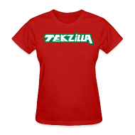 T-Shirts ~ Women's T-Shirt ~ Ladies Tekzilla Tee