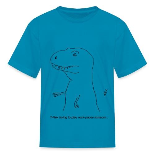 T-Rex Rock, Paper, Scissors (Kid's) - Kids' T-Shirt