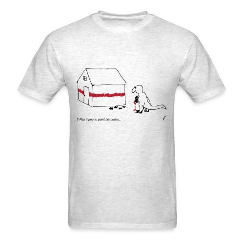T-Rex Painting House- Basic Tee - Men's T-Shirt