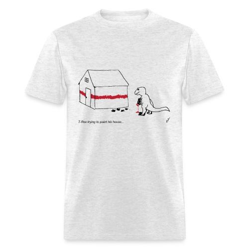 T-Rex Painting House- Basic Tee - Men's T-Shirt