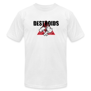 2-Sided White Macross Destroid T-Shirt - Men's T-Shirt by American Apparel