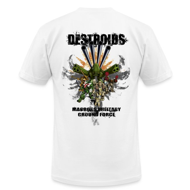 2-Sided White Macross Destroid T-Shirt