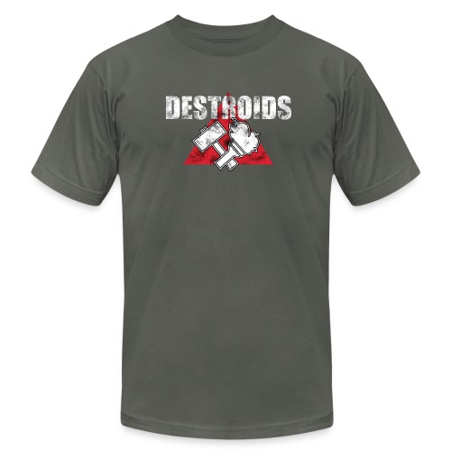 2-Sided Gray Macross Destroid T-Shirt - Men's T-Shirt by American Apparel