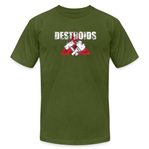 2-Sided Olive Green Macross Destroid T-Shirt - Men's T-Shirt by American Apparel