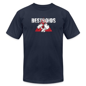 2-Sided Navy Blue Macross Destroid T-Shirt - Men's T-Shirt by American Apparel