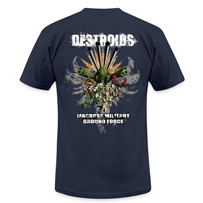 2-Sided Navy Blue Macross Destroid T-Shirt
