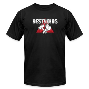 2-Sided Black Macross Destroid T-Shirt - Men's T-Shirt by American Apparel