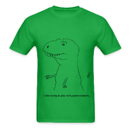 T-Shirts ~ Men's T-Shirt ~ T-Rex Rock, Paper, Scissors (Basic Tee)