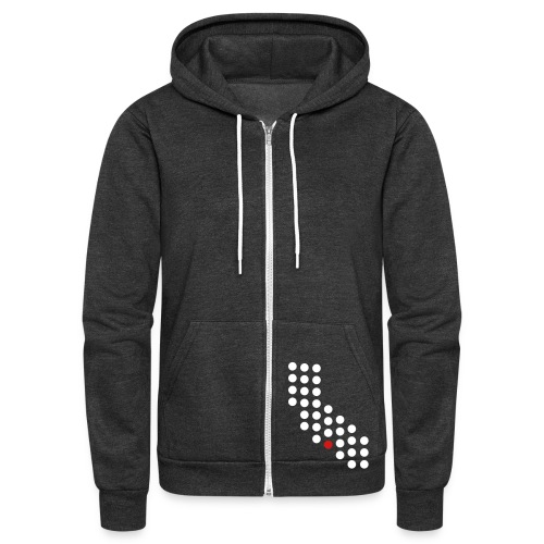 Los Angeles, CA - Unisex - Unisex Fleece Zip Hoodie