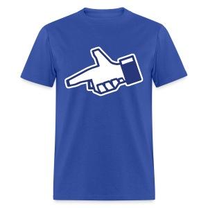Facecrook Hand Gun Shirt - Dislike - Men's T-Shirt