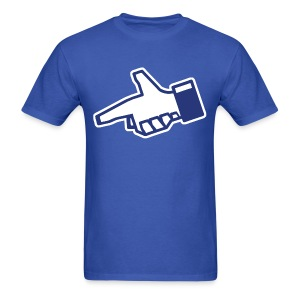 Facecrook Hand Gun Shirt - Dislike - Men's T-Shirt