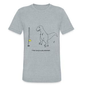 T-Rex Tetherball (Am Apparel) - Unisex Tri-Blend T-Shirt by American Apparel