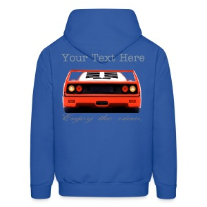 Ferrari F40 Hoodie Enjoy the View Series - Men's Hoodie