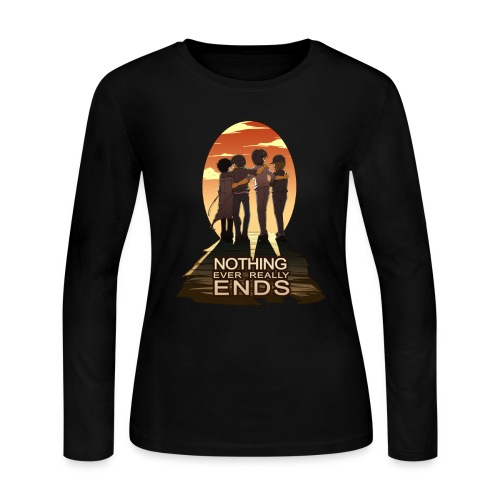 Nothing Ever Really Ends [DESIGN BY HUDA] - Women's Long Sleeve Jersey T-Shirt