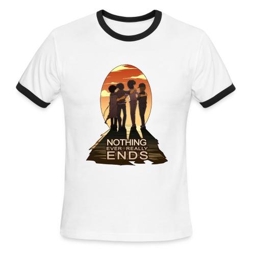 Nothing Ever Really Ends [DESIGN BY HUDA] - Men's Ringer T-Shirt