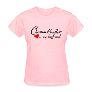 T-Shirts ~ Women's T-Shirt ~ Christian Beadles Is My Boyfriend