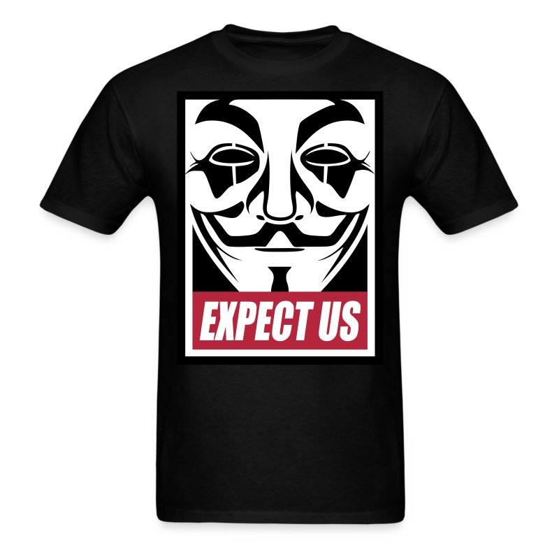 Anonymous Expect Us - Men's T-Shirt