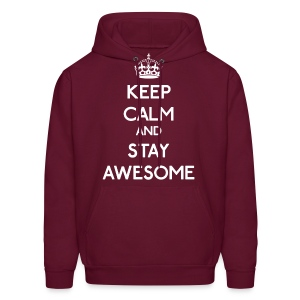 Keep Calm and Stay Awesome - Men's Hoodie