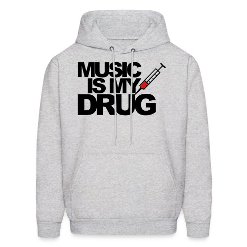 Grey Music Is My Drug Hoodie - Men's Hoodie