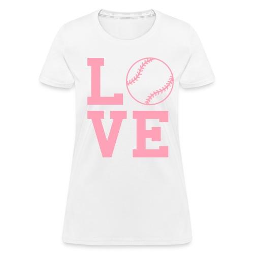 Love Baseball Women's T-Shirt - Women's T-Shirt