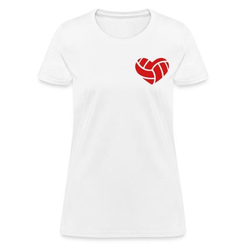 Love Soccer Heart Women's T-Shirt - Women's T-Shirt