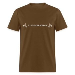 'I Live For Hockey' Men's Standard Weight T-Shirt - Men's T-Shirt