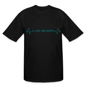 'I Live For Hockey' Men's Tall T-Shirt - Men's Tall T-Shirt