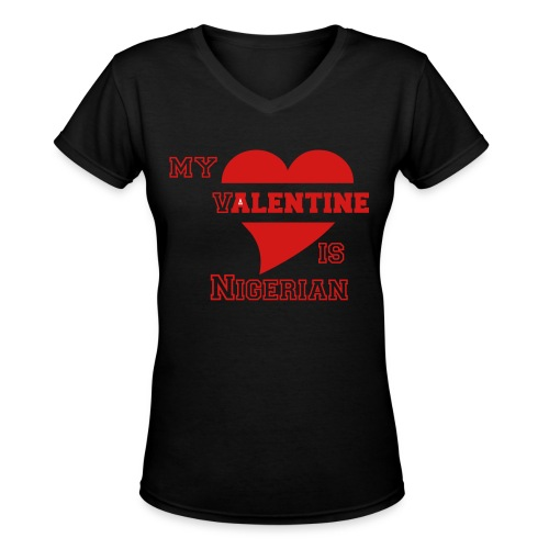 Nigerian valentine - Women's V-Neck T-Shirt
