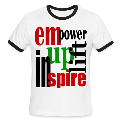 Empower Uplift & Inspire - Men's Ringer T-Shirt