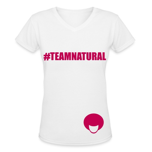 Team Natural - Women's V-Neck T-Shirt