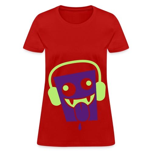 Headphone Vampire T-Shirt  - Women's T-Shirt