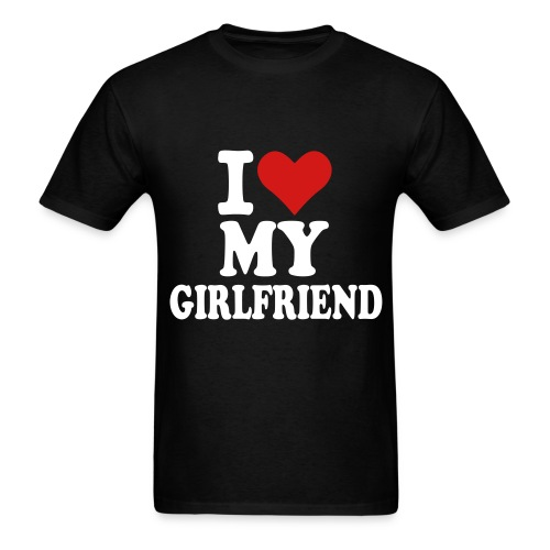 I Love My Girlfriend V-neck  - Men's T-Shirt