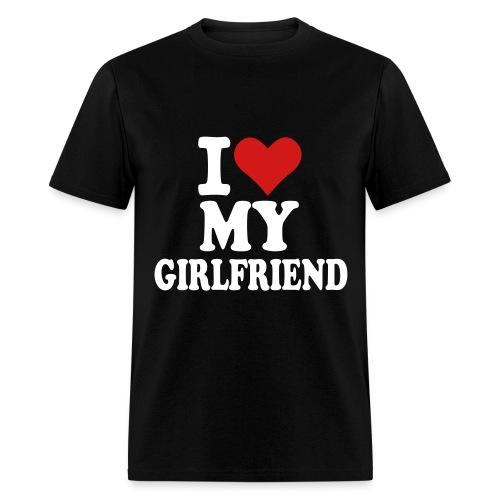 I Love My Girlfriend V-neck  - Men's T-Shirt