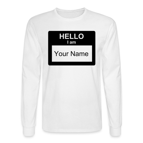 My name is... - Men's Long Sleeve T-Shirt