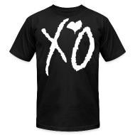 T-Shirts ~ Men's T-Shirt by American Apparel ~ XO Signature Tee- (Black XO on White)