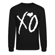 Long Sleeve Shirts ~ Crewneck Sweatshirt ~ CREW Love- XO Signature Black